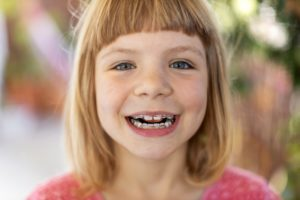 young girl with pediatric orthodontics in Hopkinton